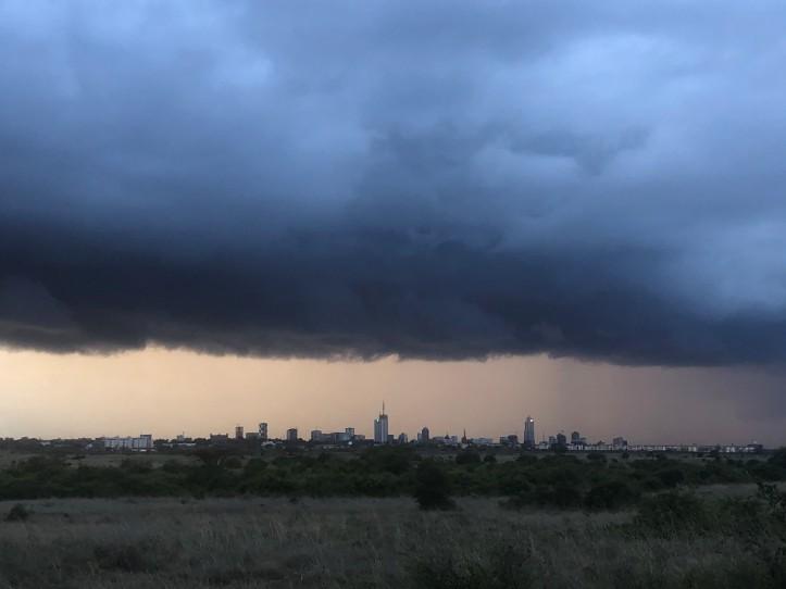 Nairobi Under Rain Clouds
